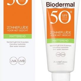 Biodermal Zon – Matterende Zonnefluïde – Zonnebrand – SPF 50 – 40ml Aanbieding