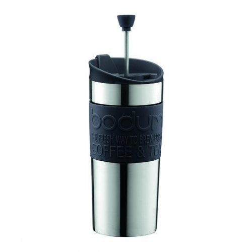 Bodum Travel Press Reispress Thermosbeker - 0.35 l - Zwart