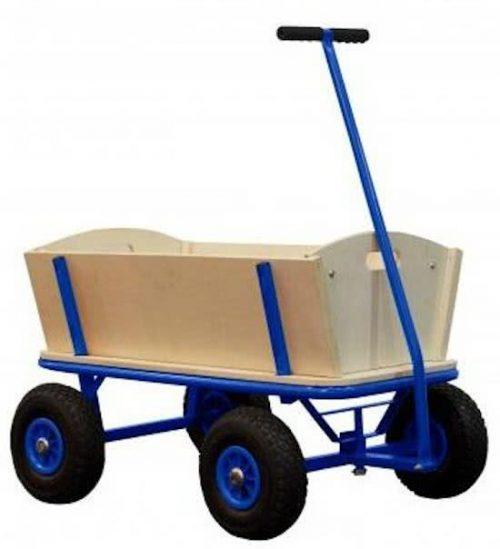Bolderkar / bolderwagen 90x60x53cm - Billy - Blauw