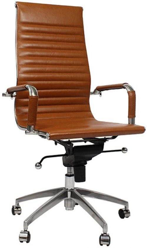 Bureaustoel Big Boss Cognac - Inspired by Charles and Ray Eames
