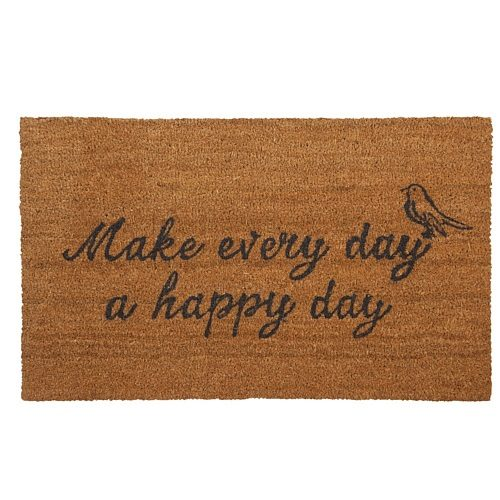 Clayre & Eef Deurmat 75 x 45 cm - Make Every Day A Happy Day