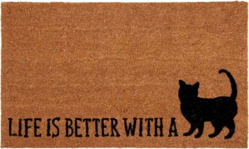 Clayre en Eef Deurmat life is better with a cat kat - 73x45x2cm