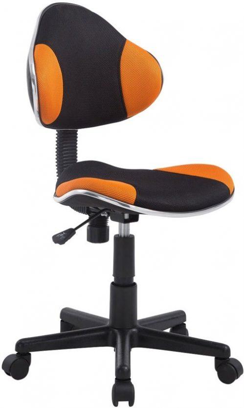 Clp Bureaustoel - BASTIAN - zwart/oranje