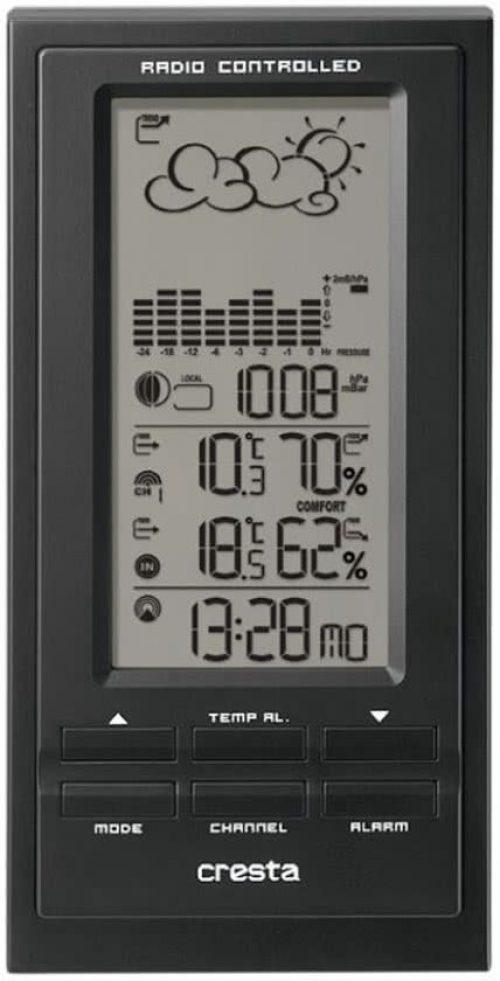 Cresta BAR500 digitaal weerstation met barometer Zwart