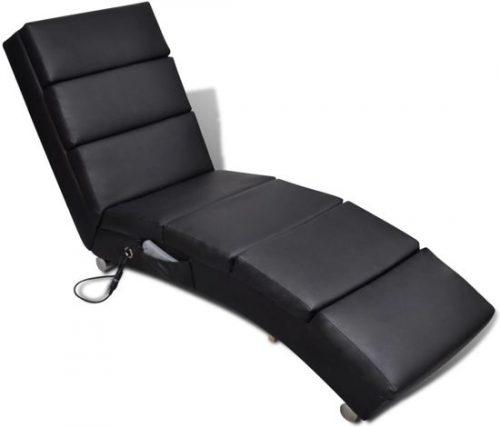 Elektrische massage ligstoel (zwart)