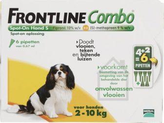Frontline Combo - S: van 2 tot 10 kg - Anti vlooienmiddel...