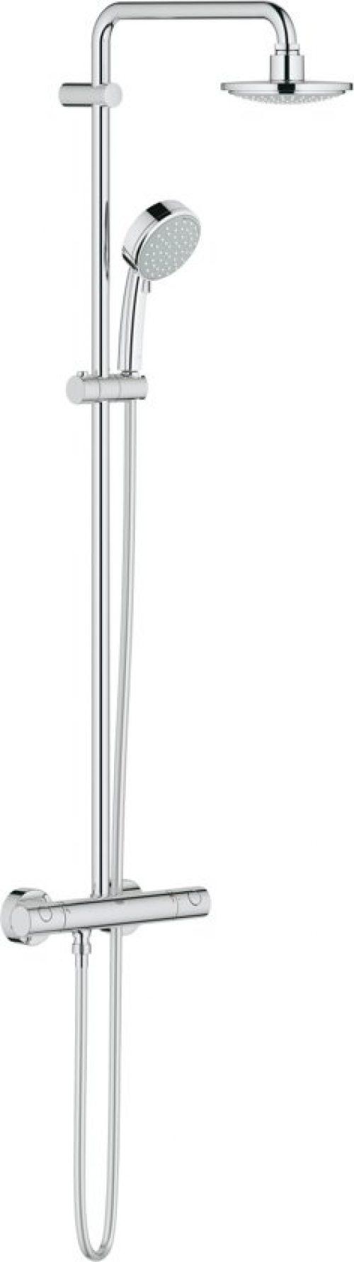 GROHE New Tempesta Cosmopolitan Douchesysteem - Regendouche ø 16 cm - Inclusief thermostaatkraan - 15 cm hartafstand