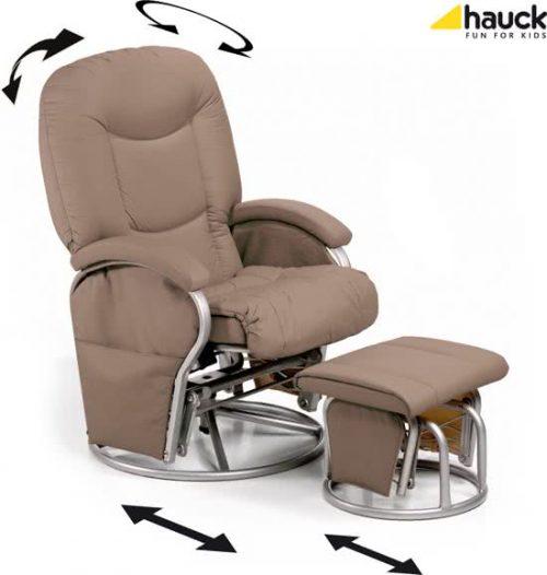 Hauck Metal Glider Recline - Schommelstoel - Crème