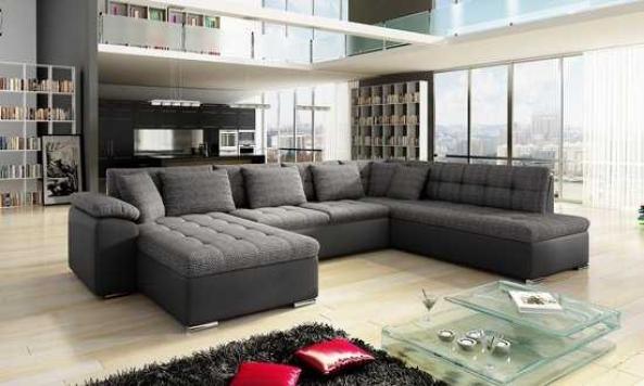 Hoekbank Antraciet Leer.Hh Furniture Hoekbank Hoeksalon Grenada Zwart Antraciet