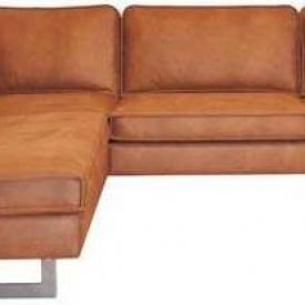 Hoekbank Riverdance chaise longue links | leer Colorado cognac 03 | 2,17 x 2,90 mtr breed Aanbieding