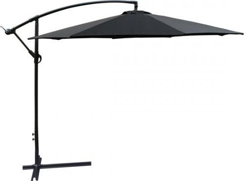 Homra Parasol - zweefparasol - Ø300 cm - zwart - inclusief beschermhoes