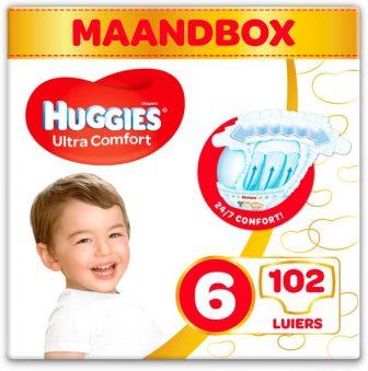 HUGGIES Ultra Comfort Maat 6 Luiers - Maandbox