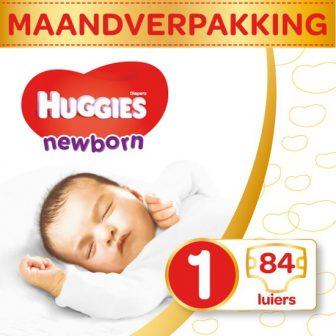 HUGGIES Ultra Comfort Newborn Maat 1 Luiers Maandbox - 84 stuks