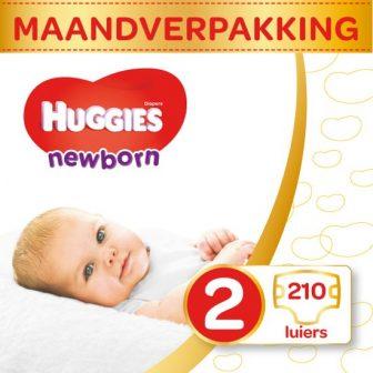 HUGGIES Ultra Comfort Newborn Maat 2 Luiers Maandbox - 210 stuks