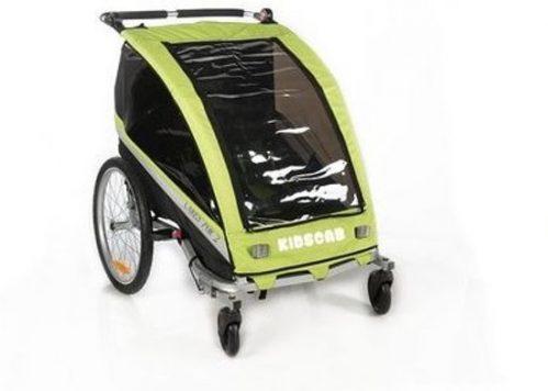 KidsCab Cares for 2 - Fietskar - Aluminium - 20 inch - Geel/Zwart