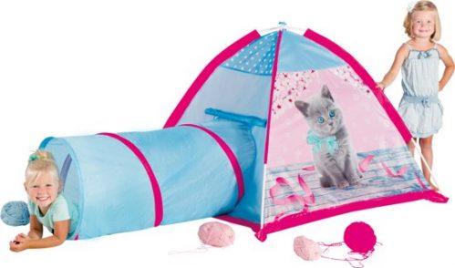 Micasa Kitten tent met tunnel - Speeltent
