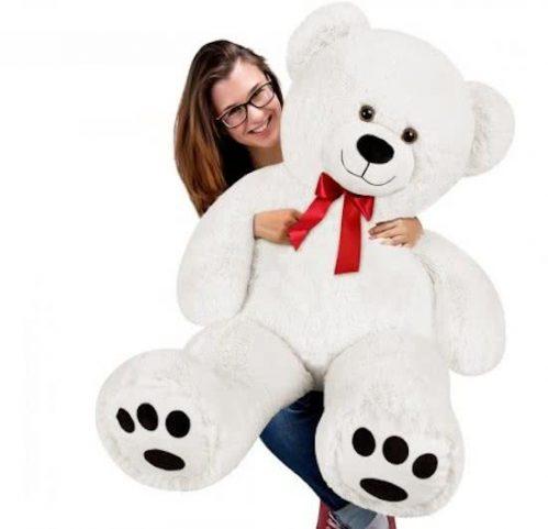 Monzana Jumbo Teddy - Knuffelbeer - 100 cm - Wit