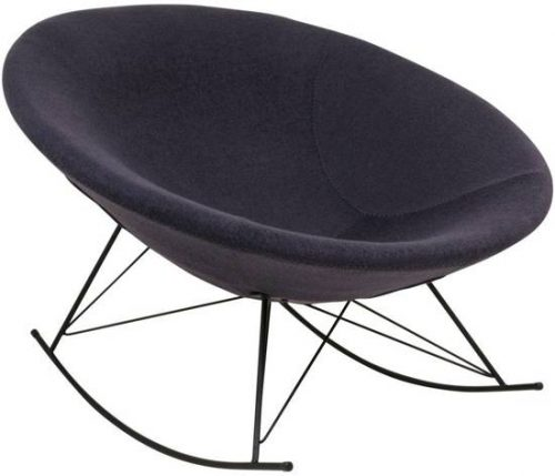 Norrut Kira schommelstoel rond donkergrijs