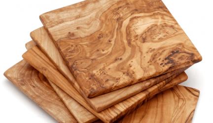 Onderzetters voor Glazen, ook van hout en kurk