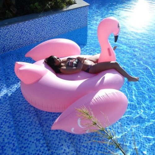 Opblaasbare Flamingo Zwemband XXXL- 1.90m |Mega flamingo | Zwemband