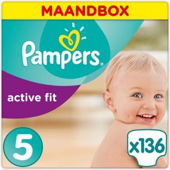 Pampers Active Fit - Maat 5 (Junior) 11-23 kg - Maandbox 136...