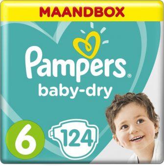 Pampers Baby-Dry - Maat 6 (Extra Large) 13-18 kg - Maandbox 124...