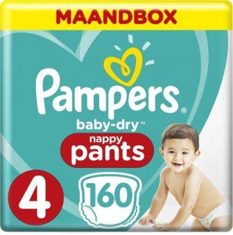 Pampers Baby-Dry Pants - Maat 4 (Maxi) 9-15 kg - Maandbox 160...