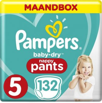 Pampers Baby-Dry Pants - Maat 5 (Junior) 12-17 kg - Maandbox 132...