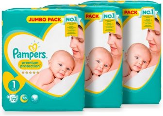 Pampers Premium Protection - Maat 1 (New Born) 2-5 kg - Jumbo...