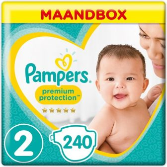 Pampers Premium Protection - Maat 2 (Mini) 4-8 kg - Maandbox 240...