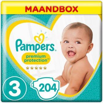 Pampers Premium Protection - Maat 3 (Midi) 6-10 kg - Maandbox 204...