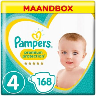 Pampers Premium Protection - Maat 4 (Maxi) 9-14 kg - Maandbox 168...