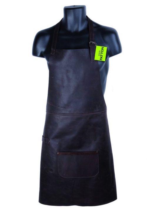 Patton Lederen BBQ schort Grill Master