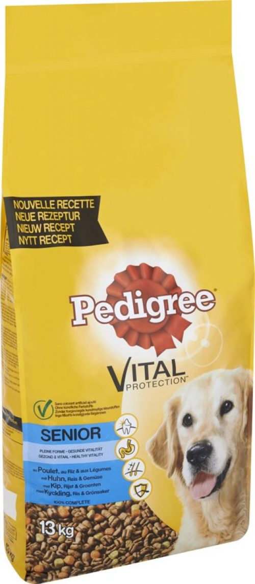 Pedigree Vital Protection - Senior droge brokken - Kip Met Rijst - Hondenvoer - 13 kg