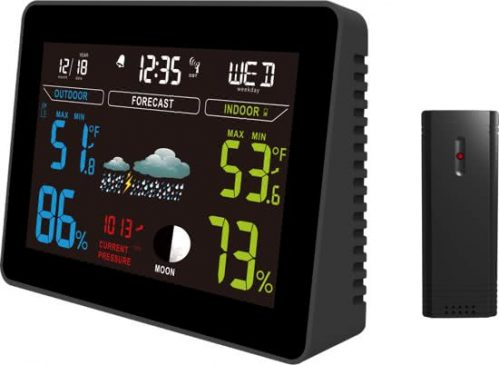 PROFILE weerstation Medium - met color display - zwart