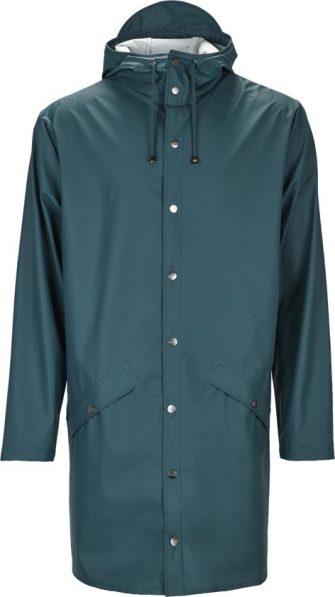 Rains Long Jacket 1202 Regenjas - Unisex - Dark Teal