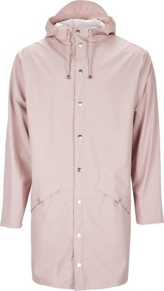 Rains Long Jacket 1202 Regenjas - Unisex - Rose