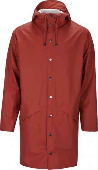 Rains Long Jacket 1202 Regenjas - Unisex - Scarlet