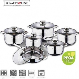 Royalty Line Luxe Pannenset – 12 delig – RVS Aanbieding