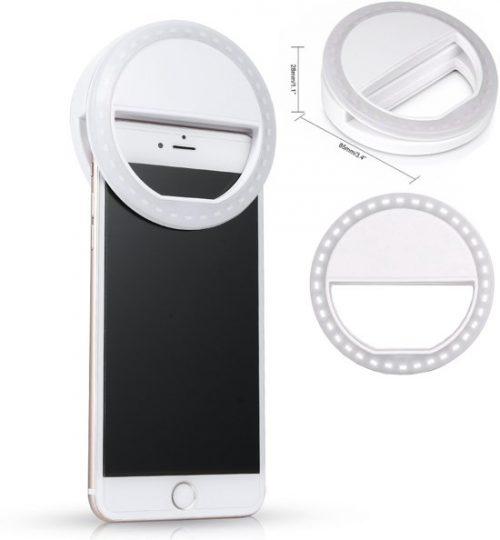 Selfie Ring Light Clip / Led Lamp / 3 Standen / Oplaadbaar / Flashlight / Ring Lamp / Verlichting in...