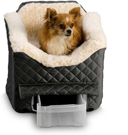 Snoozer Lookout - Autostoel - Autozitje voor honden - Small 48 x 38 x 43 cm - Zwart - met...