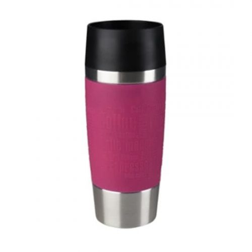 Tefal Travel Mug K30871 Reisbeker / Thermosbeker - inhoud 0.36L RVS / raspberry