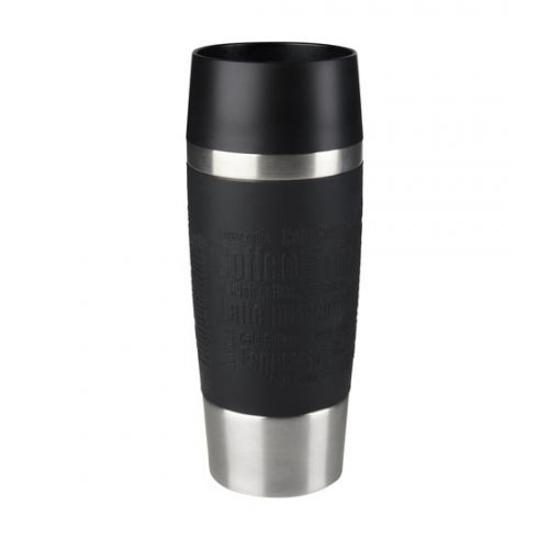 Tefal Travel Mug thermosbeker - 0.36 l - RVS/Zwart