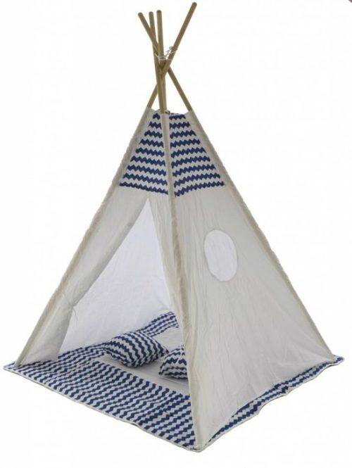 Tipi Speeltent Blauw met kussens (1115)