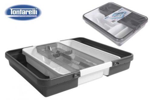 Tontarelli Mixy verstelbare bestekbak met dubbele tray B 31,7 tot 55 x L 41,8 x h7,7 cm