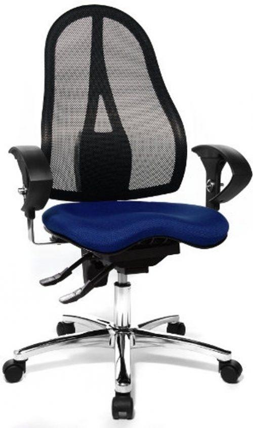 Topstar Bureaustoel Ergonomische bureaustoel SITNESS 15 AL. U2, blauw / zwart
