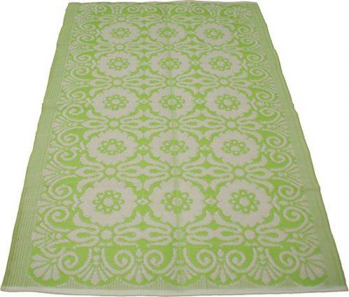 Tuintapijt tuinkleed buitenkleed groot groen/wit 180 x 270 cm