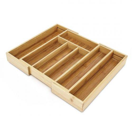 Verstelbare bestekbak - Bambus - 29 - 43 cm