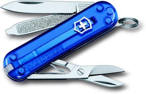 Victorinox Classic SD Saphir Zakmes - 7 Functies - Transparant Blauw