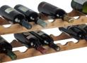 Wijnrek in metaal en hout
